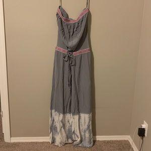 Gypsy global village strapless dress